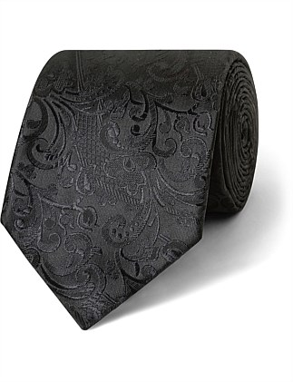 Black Self Paisley VH Poly Tie