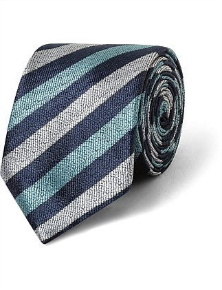 Navy & Teal Stripe VH Poly Tie