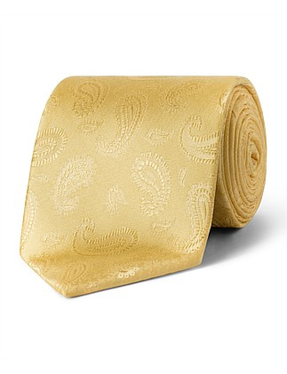 Gold Self PaisleyVH Poly Tie
