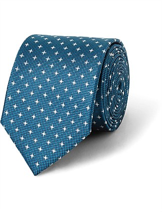 Teal Diamond Dobby VH Poly Tie