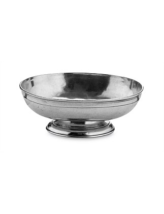 OVAL FOOTED FRUIT BOWL 31.5X22CM