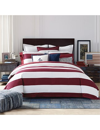 CABANA STRIPE QUILT COVER SET DOUBLE BED