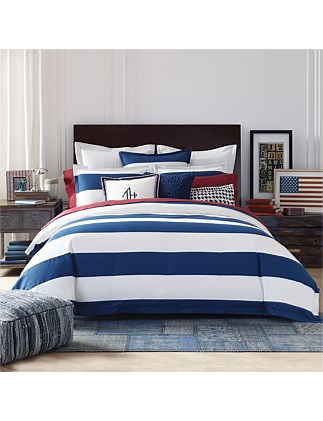 CABANA STRIPE QUILT COVER SET QUEEN BED