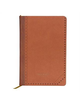 43abecaa05a986 A5 Notebook Brown Brogue Kiku. Ted Baker