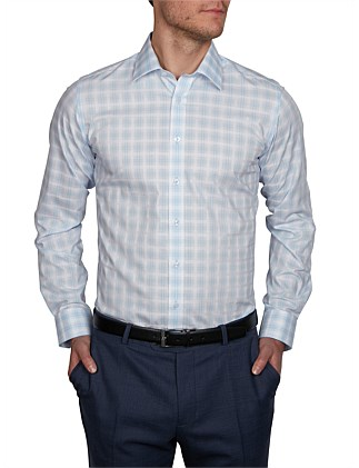 BANDOL DOBBY CHECK SLIM FIT SC SHIRT