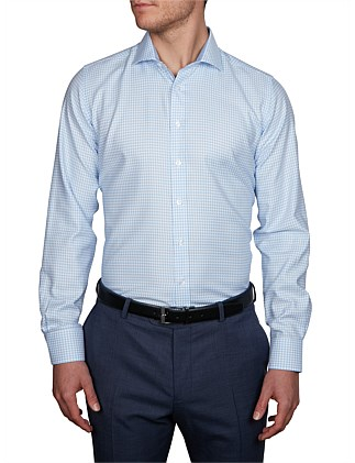 WOLF HOUND TOOTH CHECK SLIM FIT SHIRT