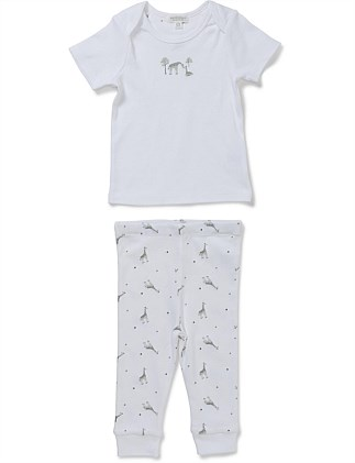"""Giraffe"" Two Piece Set - Top & Legging (Newborn-9Months)"
