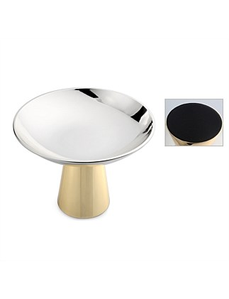 "EP SILVER/GOLD "" RETRO"" LOW BOWL WITH 11.5CM H STAND"