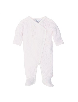 "Gigi ""Butterfly"" Long Sleeve Wrap Romper(Premature-9Months)"