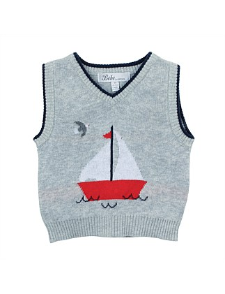 Theo Sail Boat Vest (9-24Months)