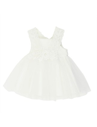 Lace Dress with Back Bow (3-24Months)