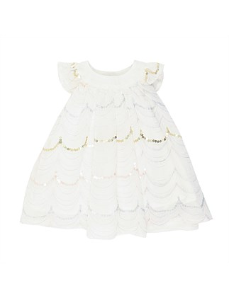 Short Sleeve Embroidered Dress (3-24Months)