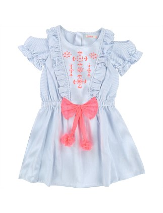 Capsule  White  Blue Dress(8-12 Years)