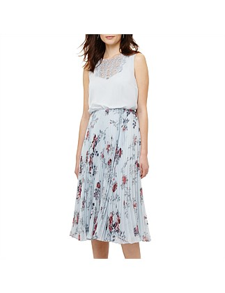 PATRICIA PLEATED FLORAL DRESS