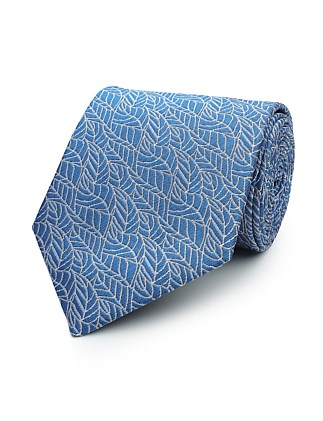 7.5 CM SHADOW LEAVES SILK TIE