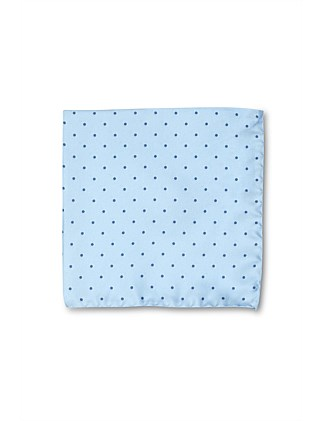 SELF POLKADOT SILK POCHETTE