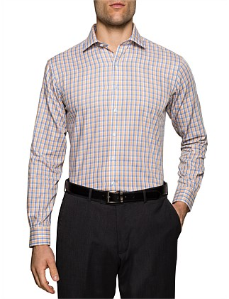 2 COLOUR CHECK EURO FIT SHIRT