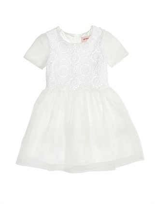 Embroidered Organza Dress (Girls 8-14 Years)