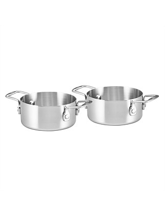 Essteele Set of two 12cm/0.62L Open Mini Pots
