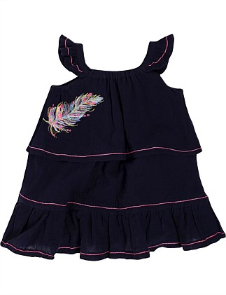 Kindred Feather S/Less Dress (Girls 3-7 Years)