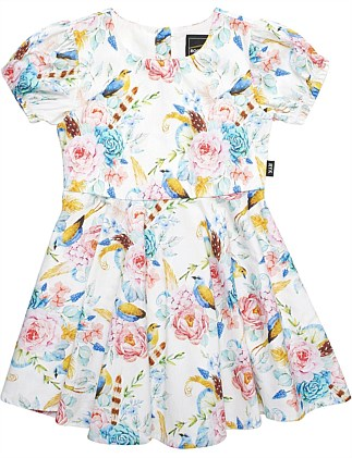 Boho Floral S/S Mad Men Dress (Girls 3-8 Years)