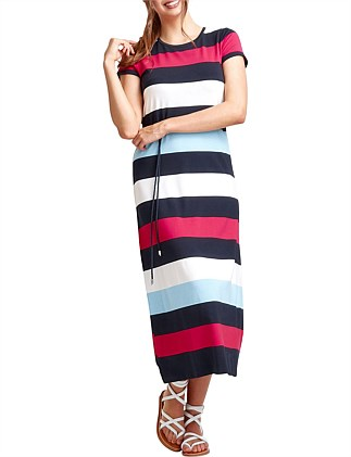 CORINNE STRIPE MAXI DRESS