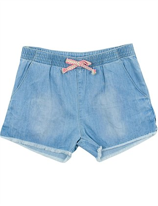 Jaipur Denim Short W Tassel Tie (Girls 8-14 Years)