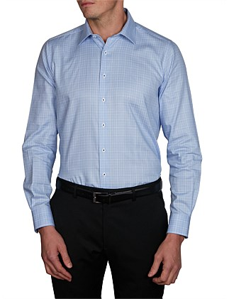 MAYARI MOTTLE CHECK SLIM FIT SHIRT