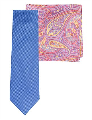 NEAT TIE & PAISLEY POCKET SQUARE