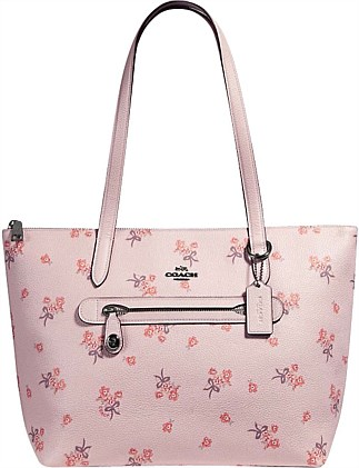 TAYLOR TOTE WITH FLORAL BOW PRINT