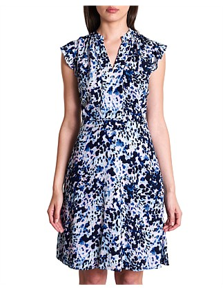 Animal Blur Viscose Dress