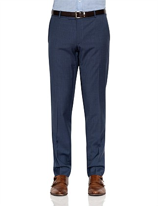 WOOL MICRO CHECK TROUSER