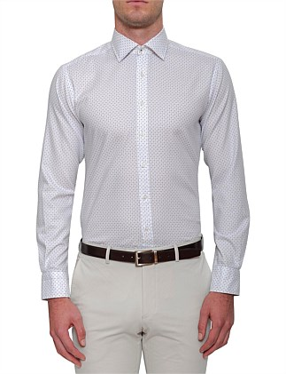 COTTON OXFORD MINI PRINT SHIRT