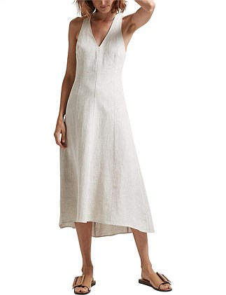 ALISHA LINEN MAXI DRESS