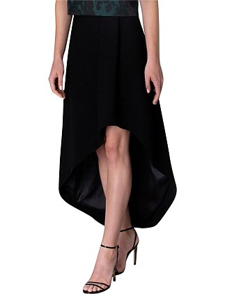 BLACK CREPE ELIPSE SKIRT