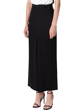 BLACK CREPE PLISSE SKIRT