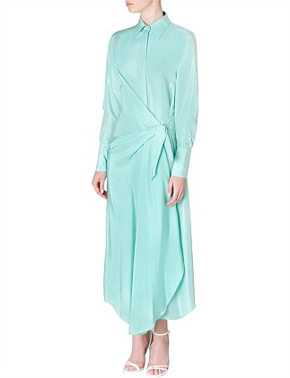 MINT SILK MINERVA SHIRT DRESS