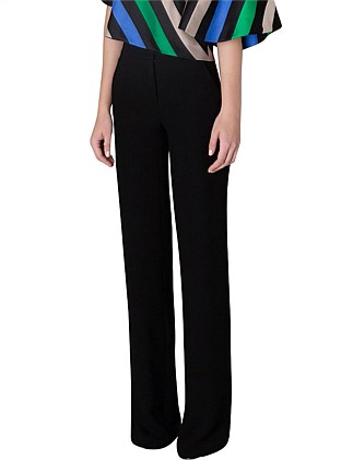 BLACK CREPE BOOTLEG LONG PANT