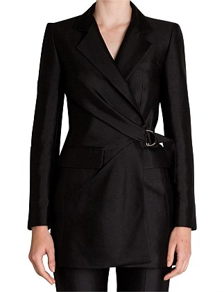 BLACK CREPE SURREALIST JACKET