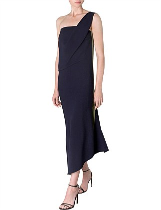 NAVY CREPE SIRENS DRESS