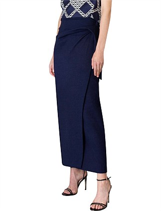 NAVY COTTON KNIT POINTE SKIRT
