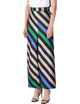 STONE STRIPE PLISSE SKIRT
