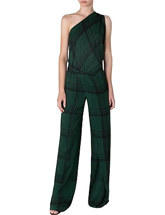 EMERALD CHECK ARABESQUE JUMPSUIT