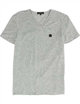 COTTON STRETCH V NECK TSHIRT