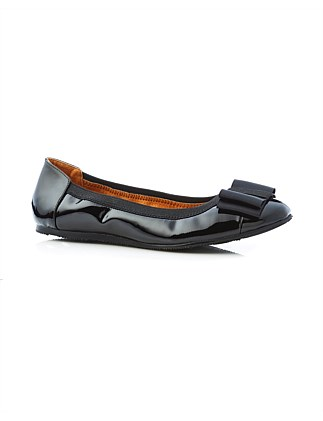 Sandra Bow Patent Leather