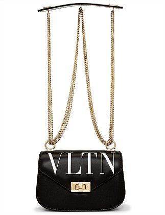 VLTN SMALL LEATHER SHOULDER BAG