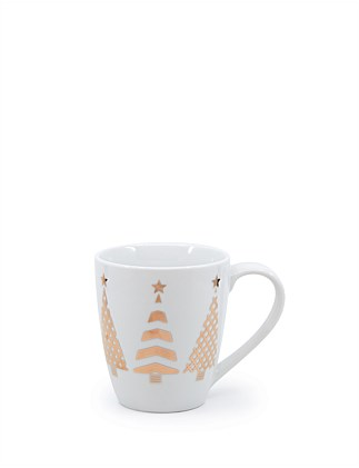DAVID JONES CHRISTMAS TREE MUG  350ML