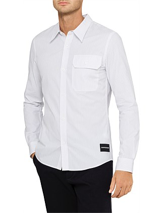 ad1a2efda5e0e COTTON STRIPE SLIM FIT SHIRT Special Offer