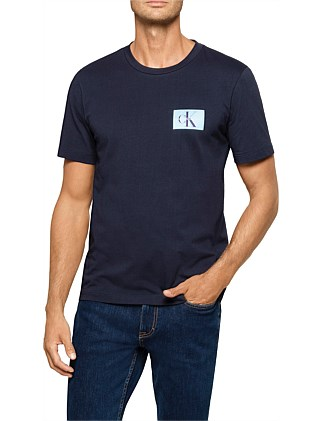 e7e777ae879f3d MONOGRAM CHEST BADGE LOGO COTTON TEE