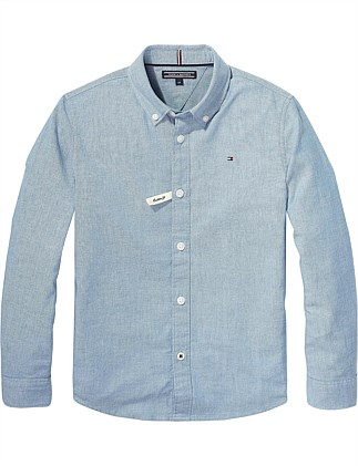 a2836583a Essential Stretch Chambray Shirt L/S (Boys 8-14 Years) Special Offer On  Sale. Tommy Hilfiger